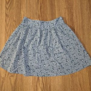 Flouncy Floral Skirt with Back Detail